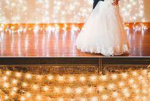 Night wedding ideas / Decoration, layout, color theme ideas