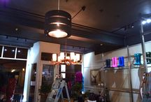Shop Lighting / Photos of electrical lighting installation in shop premises.
