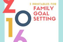 Family Activities / Discussion starters, prayers and ideas for family meetings, planning and goal setting.