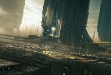 Science fiction landscapes / Sci-fi Artworks