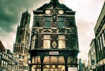 Utrecht-Place of open Air Museum with Dutch Windmills