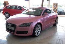 Pink cars. OMG