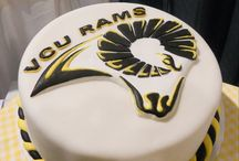 Logo Cakes / Hand-drawn logos on buttercream or fondant iced cakes