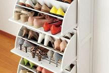 Shoe storage and closets