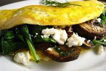 Spinach & Mushroom Omelette ....