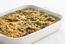 ovenschotel met spinazie en kippendijen
