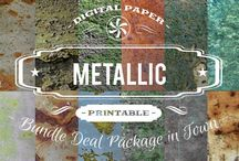 METALLIC PAPERS / DIGITAL PAPERS - METALLIC PAPERS BY DIGITAL PAPER SHOP