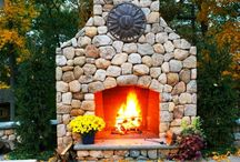 The MacDowell Company Outdoor Fire Features / Outdoor fire features in a landscape setting