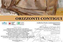 bologna / GALLERIA D'ARTE CONTEMPORANEA WIKIARTE, VIA SAN FELICE 18 – BOLOGNA - DAL 20 GIUGNO AL 03 LUGLIO - FRA GLI ARTISTI LUIGI DE GIOVANNI  Galleria d'Arte Contemporanea Wikiarte Via San Felice 18 – Bologna In collaborazione con la Galleria Mentana di Firenze Presenta ORIZZONTI CONTIGUI  Critica: Presentazione a cura di Denitza Nedkova Curatrice mostra: Deborah Petroni    Inaugurazione: venerdì 20 giugno 2014 ore 18.00 Dal 20 giugno al 03 luglio