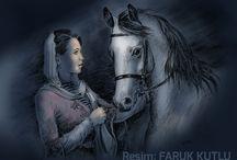 faruk kutlu paintings / History, tarih, geşmiş, Türkiye, Turkey