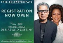 Meditation, Mantras and More! / Oprah and Deepak's 21 Day Meditation Challenge / by Donna Peaks