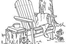 Рисунки монохром (для вышивки и не только