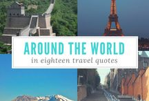 Travel | Quotes / Inspirational travel quotes