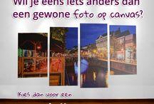 Foto op canvas voorbeelden