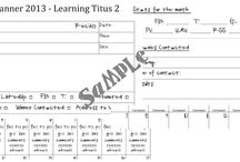 Blog Planning and Organization / Printables, advice, and time management.