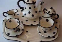 polkadot tea set