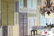 Muebles hechos con contraventanas - Furniture made with shutters