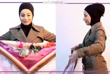 Pratik Şal Bağlama / Sefamerve'den videolu anlatım pratik şal bağlama modelleri. Video tutorial to tie scarf and shawls #sefamerve #hijab #scarf #hijabtutorial