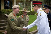 Capt Wales Reports in - Australia / Prince Harry reported for duty to the Chief of the Defence Force, Air Chief Marshal Mark Binskin marking the start of his military attachment with the Australian Army. Lieutenant General David Morrison, Chief of Army; Major General Jeffrey Sengleman, Special Operations Commander; Brigadier Dianne Gallasch, Commandant RMC; Brigadier Graeme Finney, Director General Army Operations; and Warrant Officer David Ashley, RSM-A, also attended the event at Duntroon House, Royal Military College Duntroon.