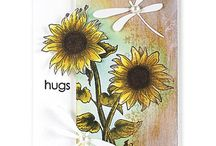 """Stamp:Sunny Pair / Handmade cards featuring the stamp """"Sunny Pair"""" by Penny Black."""