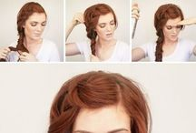 Romantic hairstyles and outfit