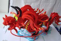 origami a drago rosso