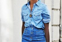 Outfits of Denim on Denim / Outfit inspirations and tips on how to confidently rock the head to toe denim look!