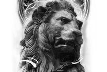Эскизы лев