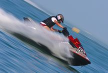 Jet Ski / An exciting ride to get your adrenalin pumping. Climb aboard, start and twist the throttle next thing you know you're flying across the water spraying water on other riders every time you shift your body. A ride that provides fun and good times for people who love adventure.