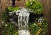 Mini garden & waterfall