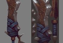 Weapons / Concepts, finished designs/illustrations of weapons for video games/film.