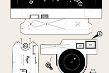 Leica pinhole paper model