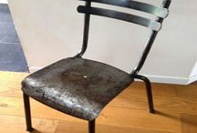 CHAISE ANCIENNE REVISITEE EFFET PATINEE VIELLI