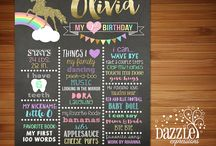 tableros de cumpleaños