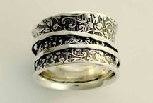 Silver clay rings