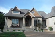 James Hardie Cobblestone   Cedar Shake Siding   Chesterfield, MO (63017) / This is a new construction house featuring Hardie Cobblestone Lap Siding with HardieShingle Cedar Siding. It is located in Chesterfield, Missouri.