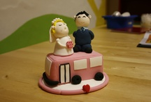 Jumping Clay Cake Toppers / Using our air dry modelling clay we can create bespoke cake topper for any occasion. The most popular has to be Weddings, and best of all these topper are going to last a life time. Tell us what you want and we can design to your individual specifications.