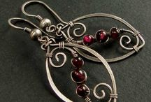 Jewelry: Wire Earrings / wire wrapping, metal fusing, etc.