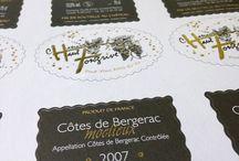 Packaging - étiquettes de vin / Étiquettes de vin