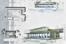 architecture ~ projects and technical drawings