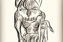 Rough sketch / With pencil and paper , or adobe ideas