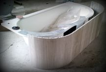 Marble bathtub covering with Aluminum honeycomb for Hyatt Regency Hotel / This is natural marble, lenght is 230 cm, weight is 20,5 kg. Mounting with magnets. Easily be removable to the intervention.