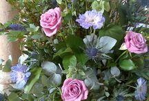 Church Pedestal Flowers / A range of pedestal and pew end designs.