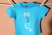 Tshirts, bodies sweats bébés et enfants / T shirts sweats bébés et enfants de la marque tribu des gones. des modèles colorés et plein d'humour des graphismes lyonnais originaux