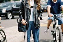 oversiezed leather jacket