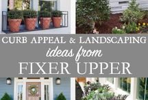 Creating Curb Appeal / Creative ways to spruce up your homes look...from the curb!