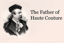 The Father of Haute Couture / Couture is defined as  exclusive, custom made high end clothing. The man behind this fashion statement is Charles Frederick Worth.  He is considered the father of Haute Couture.  Worth was born in England in 1825 and started his career in drapery shops.  He eventually moved to Paris in 1846 where he and a Swedish partner Bobergh created a dress making company. Worth and his dress making company soon became quite notable with patrons like the French Empress Eugenie. -