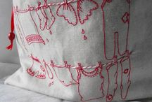 Embroidery, Red Work, Black Work, Blue Work / by The Quirky Quilter