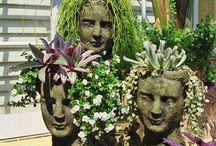 concrete garden heads