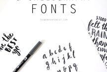 handmade logos and fonts
